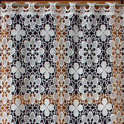 Lace kitchen curtain Amaryllis