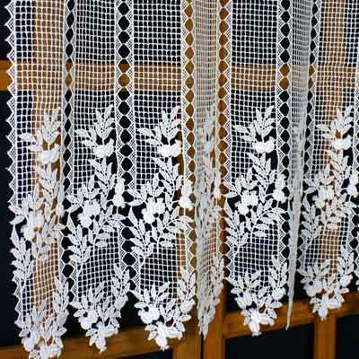 Great height Macrame lace curtain