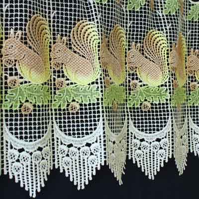 Squirrel Lace curtain