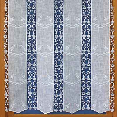 pure linen and macrame cafe curtain