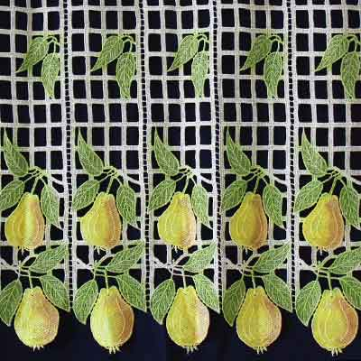 fruits lace curtain