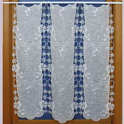 Magnolia Lace cafe curtain