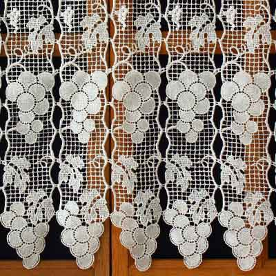 Grapefruit macrame lace cafe curtain