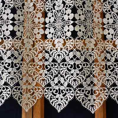 French Lace cafe curtain Valentine