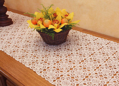 Macrame lace table runner catherine