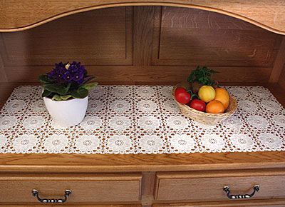 Macrame lace table runner chambord