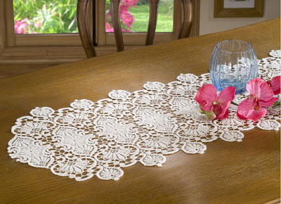 Classic Macrame lace table runner