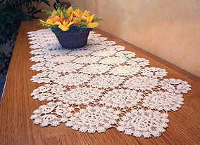 Heavy Macrame lace table runner