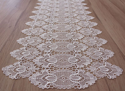 Fine lace table runner