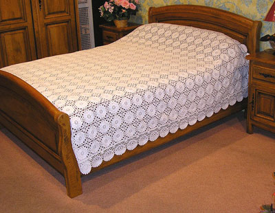 Macrame Lace cover-bed
