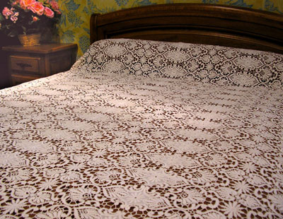 Macrame Lace cover beds