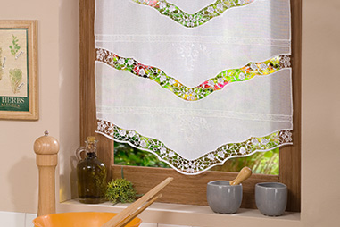 Voile tier curtains