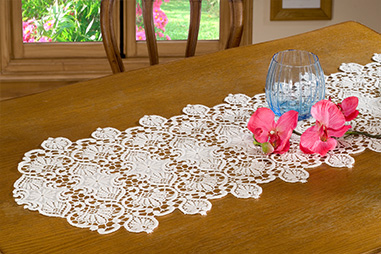 Macrame lace table runners