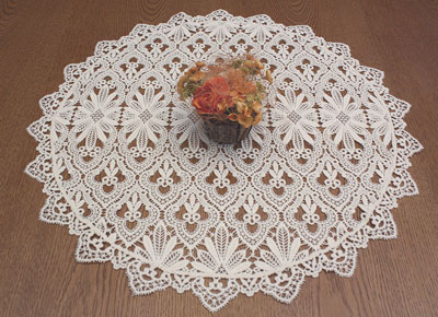 Big round lace doilies