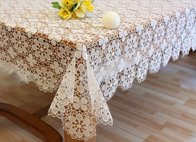 Fine Lace tablecloth Amaryllis