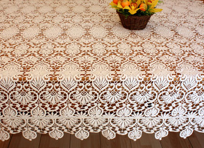 Macrame lace tablecloth Classic