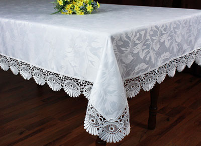 Lace tablecloth Coquilles