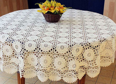 Round Lace tablecloth Chambord