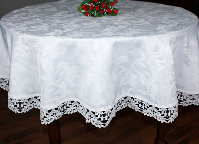 round lace tablecloth Laurier