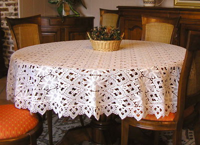round Lace tablecloth Tradition