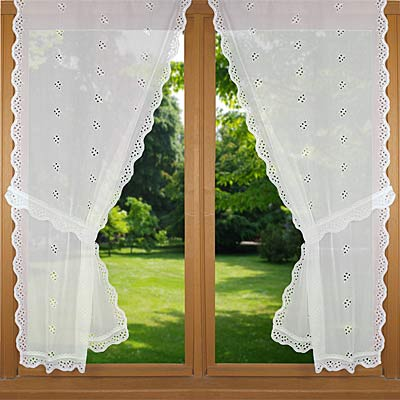 light sheer trimmed curtain