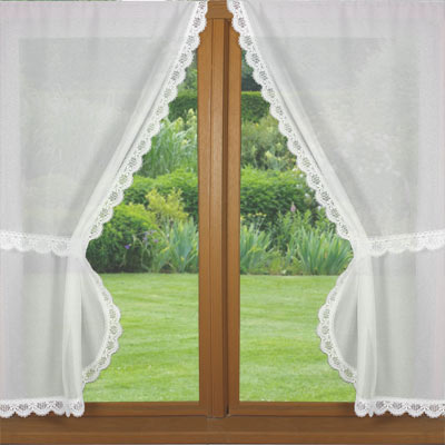 lace Terylene trimmed curtains