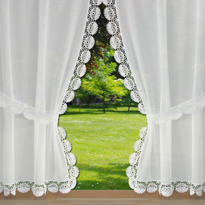 lace trimmed curtains large