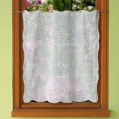 White Tier Lace Curtains