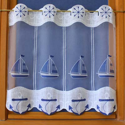 Sea lace curtain