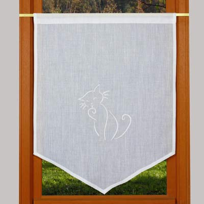 Curtain with cat