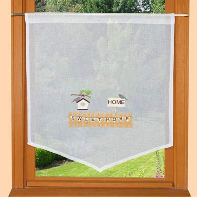 countryside embroidered curtain