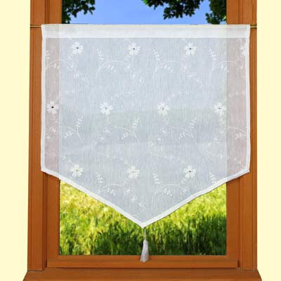 White lace curtain Verone