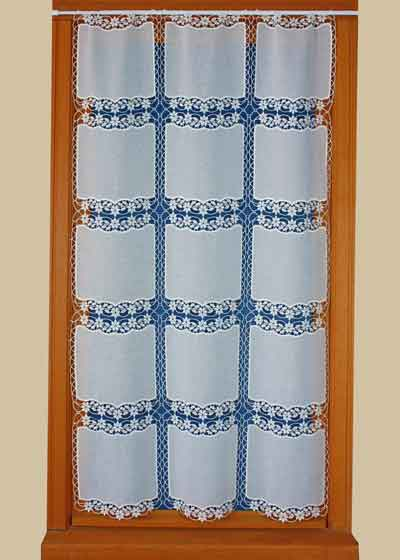 original square macrame lace curtain
