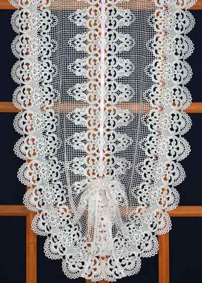 European lace curtains