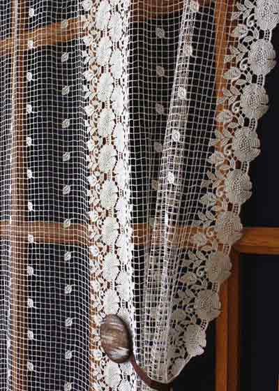 rounded lace curtain