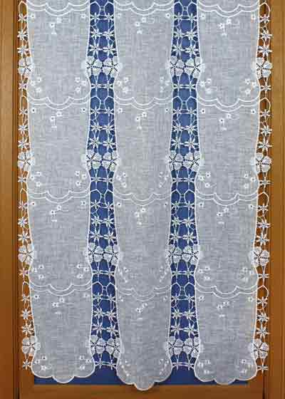Pure linen and macramé curtain