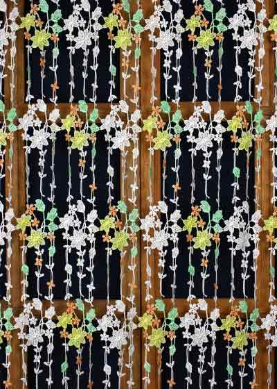 Custom size color lace curtain