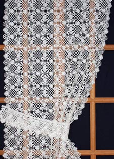 Heavy lace curtains