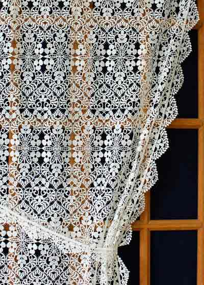 Custom size lace curtains