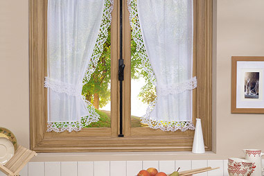 Tie back curtains