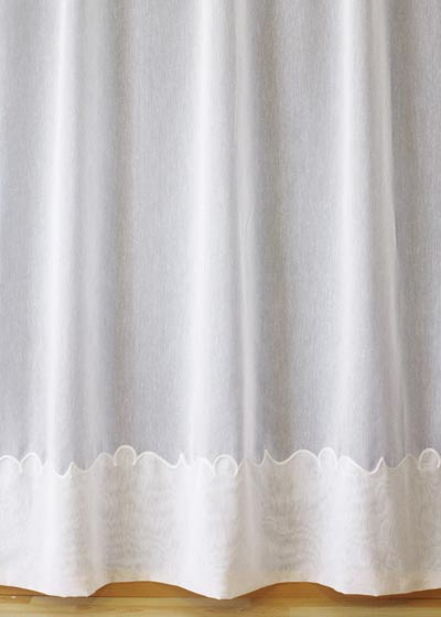 "Ecru Sheer lace curtains ""Cornely"""