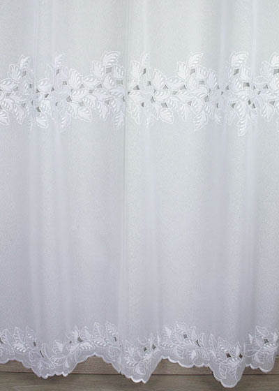 "Sheer lace curtains ""Feuilles"""