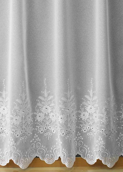 "Sheer lace curtains ""Fleurs"""