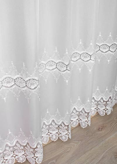 "Sheer lace curtains ""Helene"""