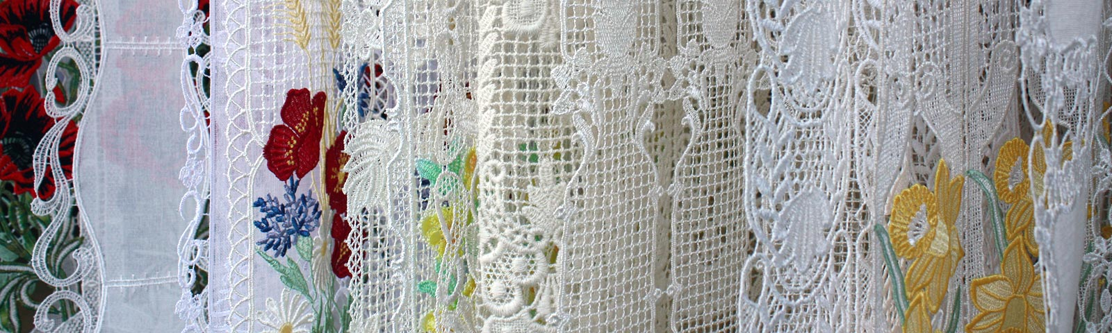 macrame lace cafe curtains. Black Bedroom Furniture Sets. Home Design Ideas