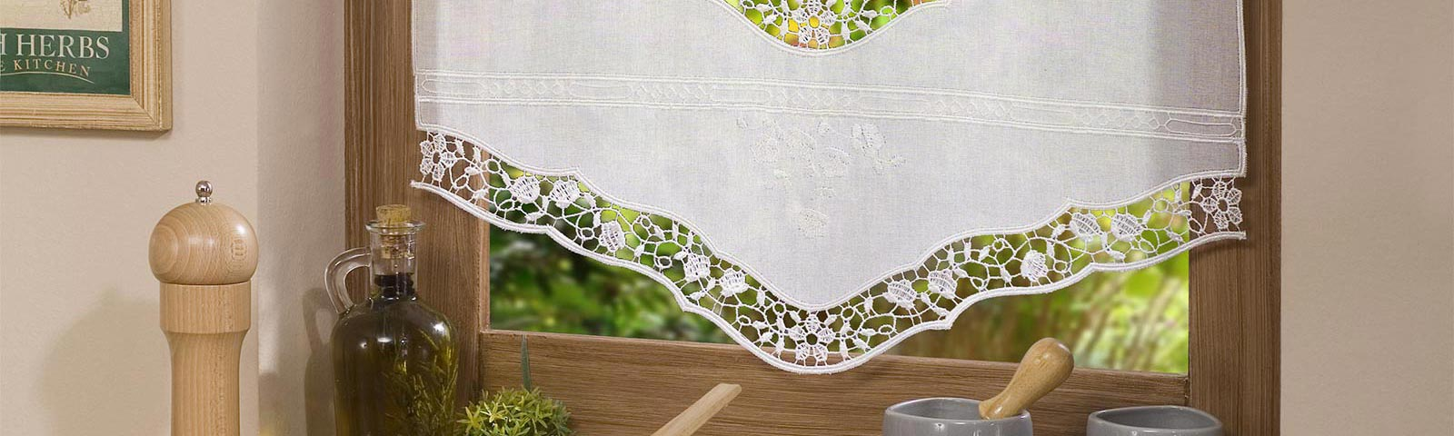 Tier Embroidered Curtains