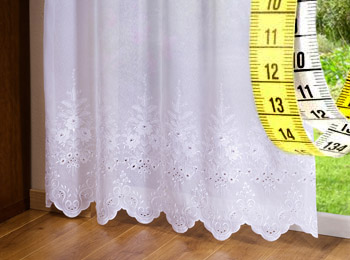 Sheer curtains measuring guide
